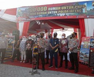 launching 1000 rumah untuk polda jateng